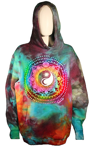 Universe ice dyed hoodie  L