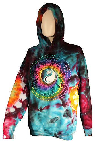 """Universe"" ice dyed pullover hoodie"