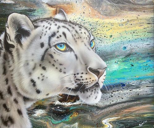Snow Leopard original painting