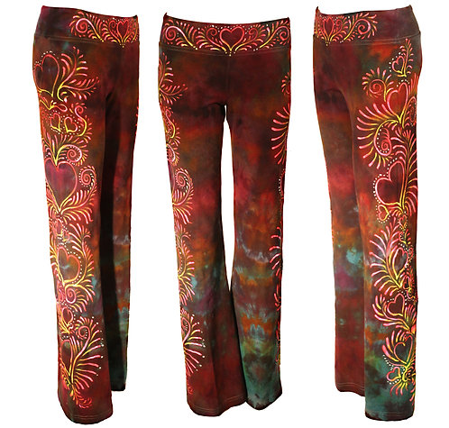 Heart ice dyed yoga pants