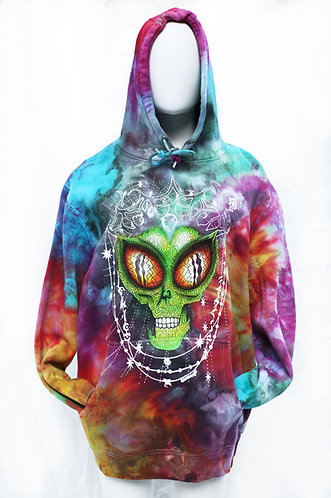 Alien Ice Dyed Hoodie size L