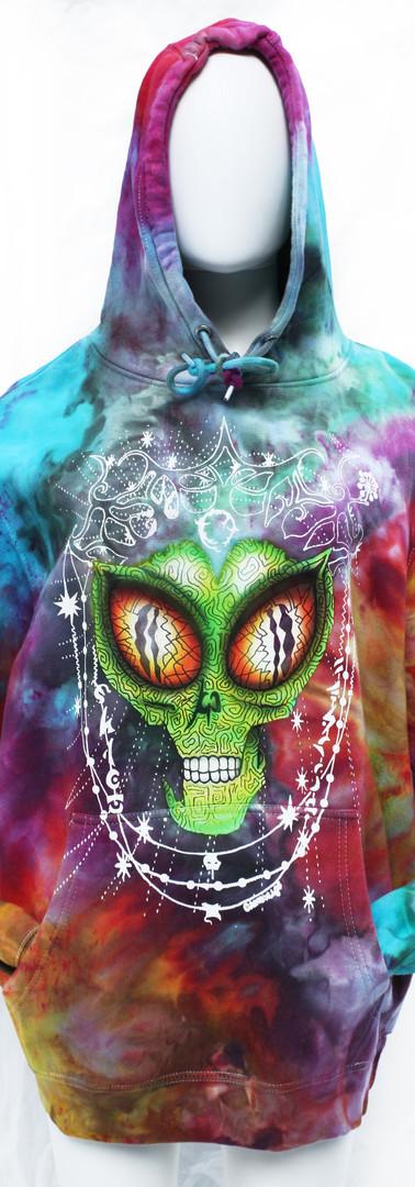 Alien iced dyed hoodie
