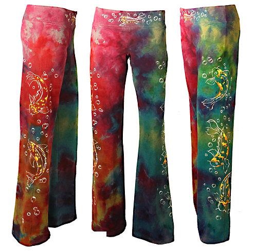 Koi ice dyed yoga pants