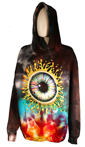 Eyesplat ice dyed pullover hoodie