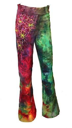 Lotus ice dyed fold over yoga pants
