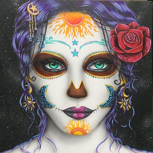 Sugar Skull woman 11x14 print