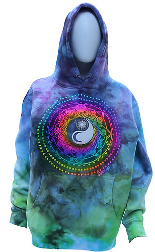 Universe ice dyed pullover hoodie