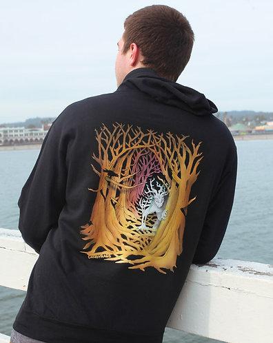 Forest dweller Black zip up hoodie