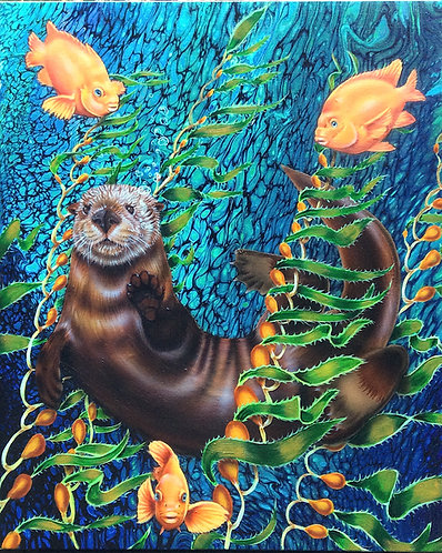 Sea Otter and friends 11x14 print