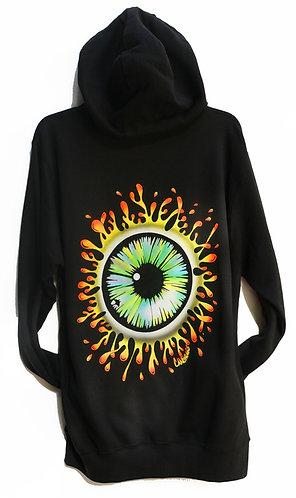 Eyesplat  Black zip up Hoodie