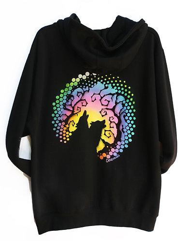 Phases Black zip up hoodie