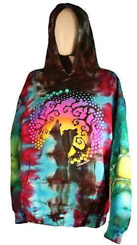 """""""Phases"""" ice dye pullover hoodie"""