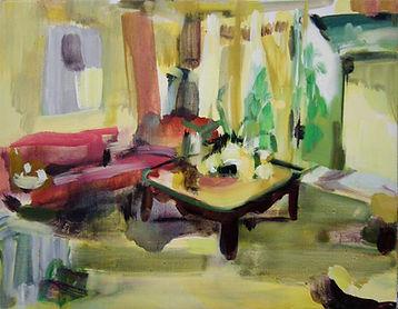 Julie Beugin Yellow Room 2009 acrylic an
