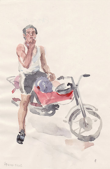 Boy on motorcycle (2012)