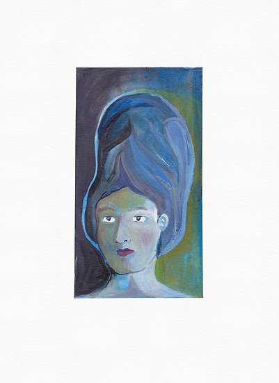 She wore nothing but a tall blue beehive (2021)