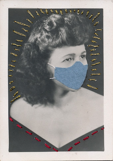 Roz 1956 in her mask (2020)