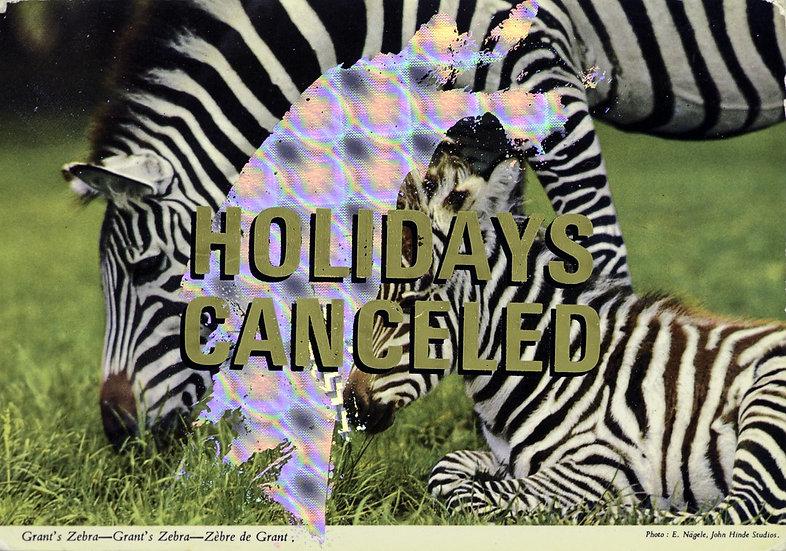 Foiled Post Card - Grant's Zebra (2010)