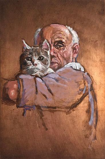 Ben Nicholson and his Cat (2020)