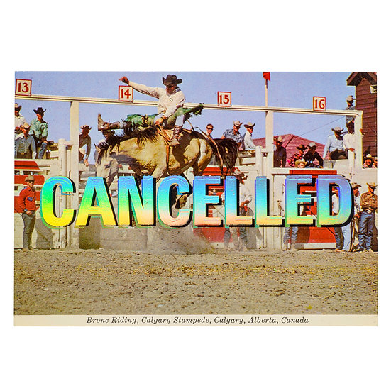 Calgary Stampede - Foiled post card