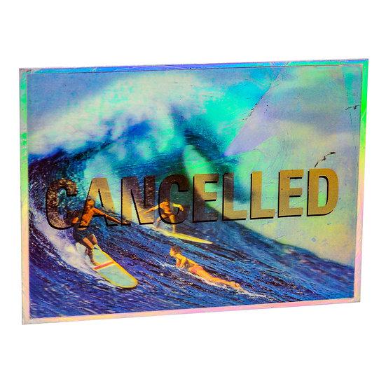 Lenticular Surfers - Aluminum post card (2020)