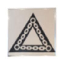 Q. L. F. Triangle 2019 silkscreen on mir