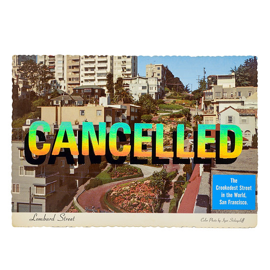 Lombard Street - Foiled post card