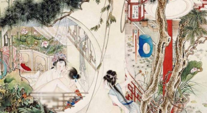 An erotic painting by Yefo Hu.