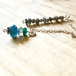 KATE DIAMONDS, AQUAS, EMERALD LARIAT