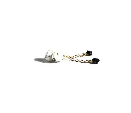 ANN (conflict-free) Diamond Ear Stud Tassels