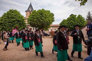 Compagnons du beaujolais - Devoir Auvergnat - fête des crus Saint-Amour - 26.04.2015