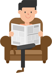 Man_Reading_the_Newspaper_on_the_Couch_C