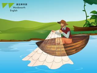 【渥茲華英語小威廉的口袋故事 #漁夫與小魚】