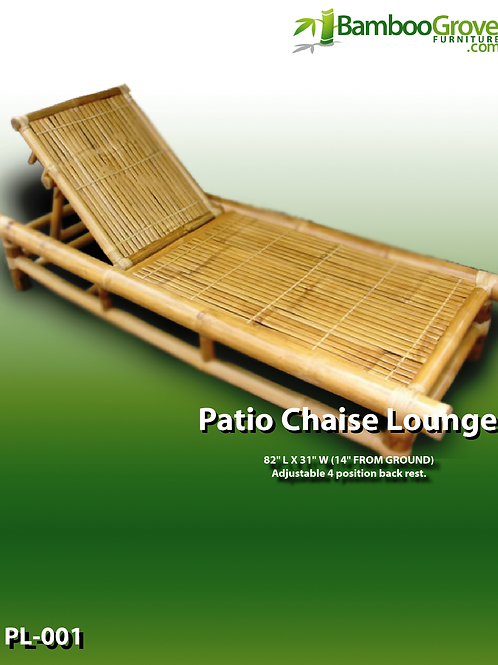 Bamboo Lounge Patio Chaise