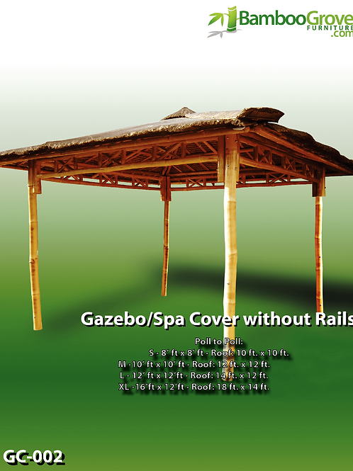 Bamboo Gazebo / Spa Cover without Rails