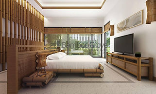 bamboo furniture hotel room