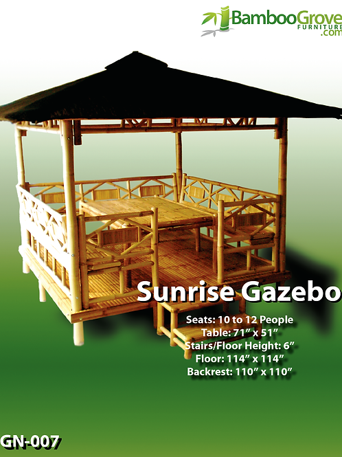 Bamboo Gazebo Sunrise