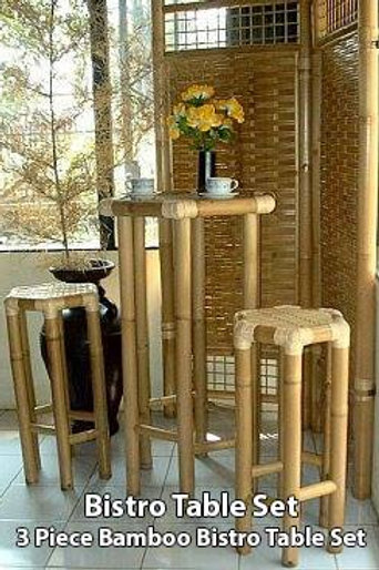Bamboo Bistro Table Set