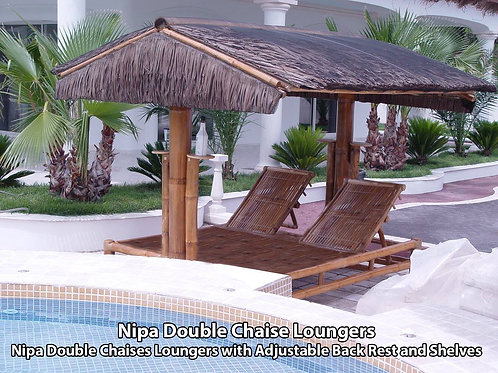 Bamboo Loungers Nipa Double Chaise