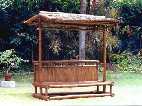 Bamboo Bench with Nipa Roof