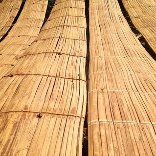 Crushed Bamboo Mats