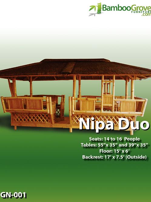 Bamboo Gazebo Nipa Duo