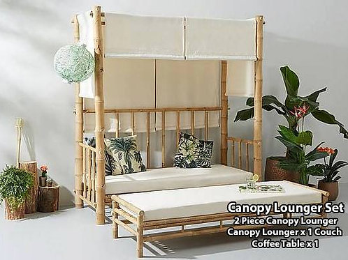 Bamboo Canopy Lounger