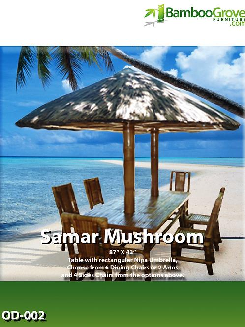 Bamboo Table Samar Mushroom