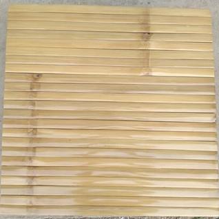 Horizontal Bamboo Panel Finished