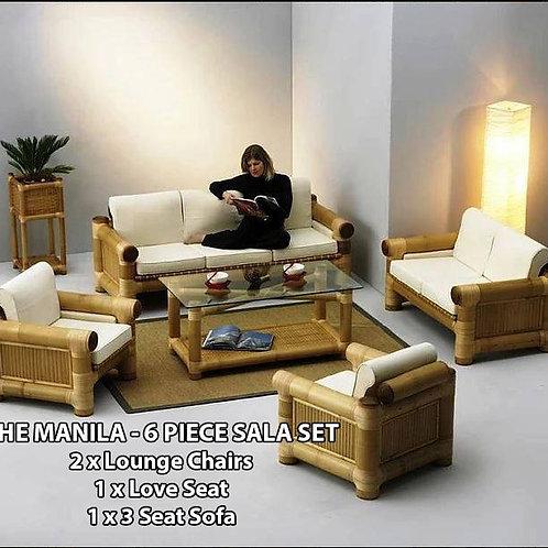 Bamboo Sala Set Manila 6 Pieces