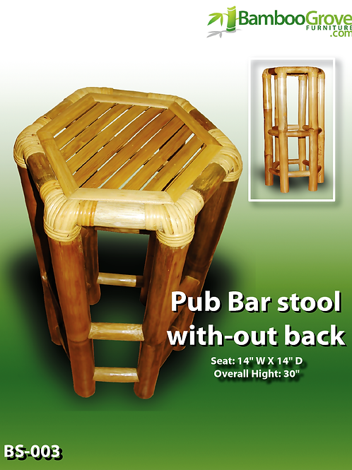 Bamboo Pub Bar Stool Without Back
