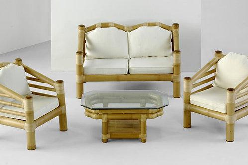 Bamboo Settee Set