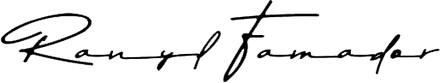 Ranyl Famador signature