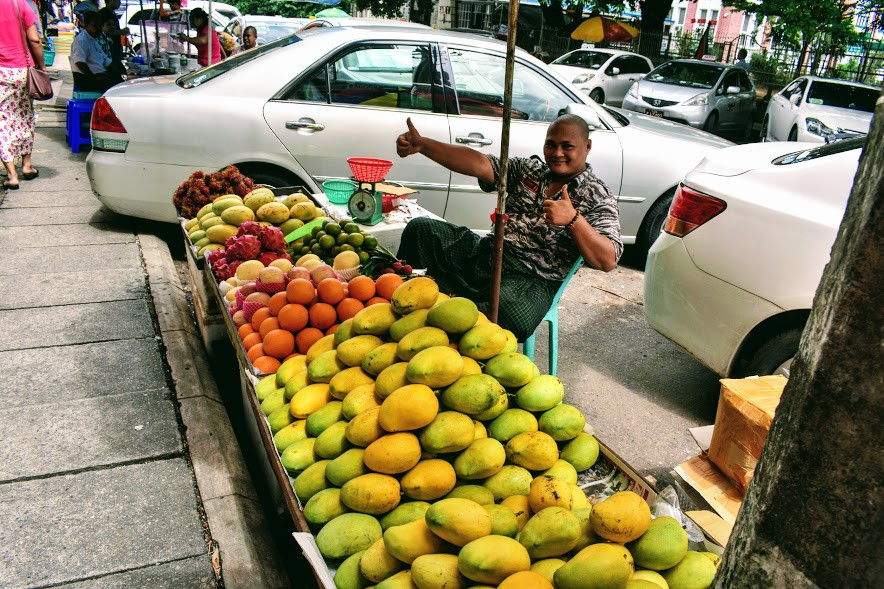 My sweet mango salesman.
