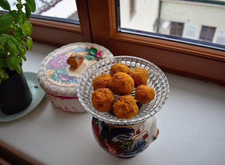 Ode to train station tellers: A recipe for Sunny Sweet Potato Falafels